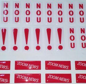3D Aufkleber, Doming Etiketten, 3D Sticker